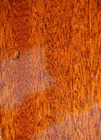 Varnished wood